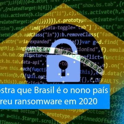 Relatório mostra que Brasil é o nono país que mais sofreu ransomware em 2020