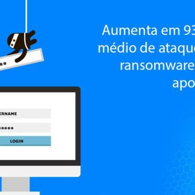 Aumenta em 93% o número médio de ataques globais de ransomware por semana, aponta pesquisa